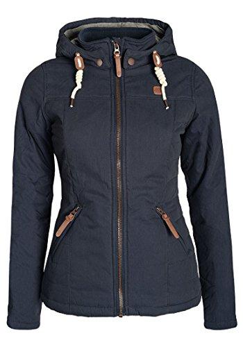 DESIRES Lewy Damen Übergangsjacke Jacke Mit Abnehmbarer Kapuze Und Stehkragen