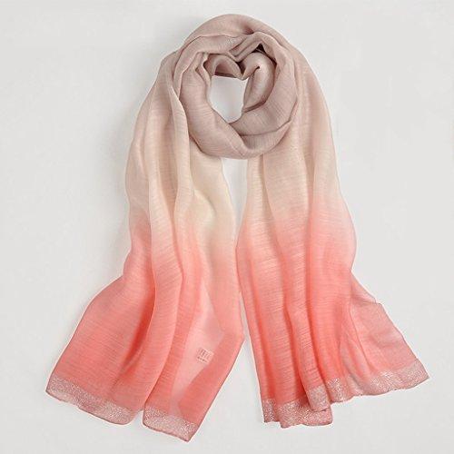 serviette de plage Écharpe à double usage en écharpe à la mode en soie de haute qualité féminine ( Couleur : #5 ) #3