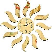 Kreative Sonne LQQGXL Kreative Uhr die Stille Quarzuhr des Wohnzimmerb/üros modelliert Farbe : Gold