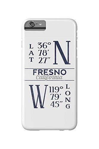 Price comparison product image Fresno,  California - Latitude and Longitude (Blue) (iPhone 6 Plus Cell Phone Case,  Slim Barely There)