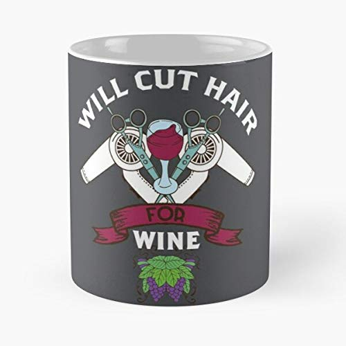 Wine Lover Hairstylist Shirt Cute Hairdresser Gift Classic Mug -11 Oz Coffee - Funny Sophisticated Design Great Gifts White-miinviet.