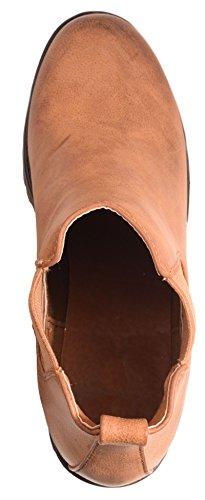 Elara - Chelsea Boots - Camel Leder Pour Femme