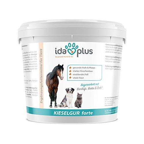 IdaPlus - Kieselgur forte 2 kg | Kieselgur füttern - wertvolle Nährstoffe für Hund, Katze und Pferd | Reich an Silizium plus Bierhefe, Biotin und Zink