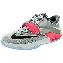 Nike Nike Kd Vii as - Zapatillas de Piel para niño plateado Pure Platinum / Black-Multi-Color
