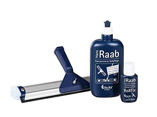 Ha-Ra 3er Set im Sparpaket - Vollpflege + Rollfix (leer) + Fensterwischer 32cm breit