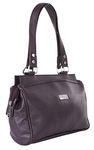 Big Handbag Shop , Damen Henkeltasche Einheitsgröße deep purple