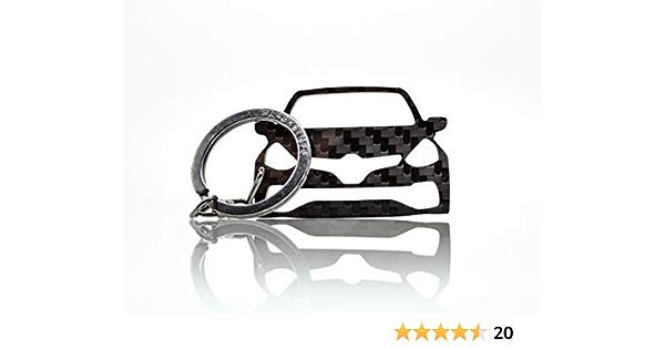 Blackstuff Carbon Karbonfaser Schlüsselanhänger Kompatibel Mit Clio Iv Sport Rs 2012 2019 Bs 664 Auto