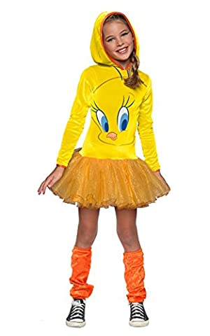 Looney Tunes Tweety Bird Girls Hooded Costume, Child's Small by Rubie's Costume Co