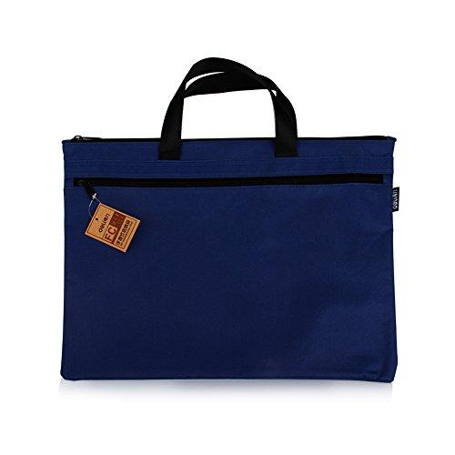 39* 30,5cm Tasche Dokument Datei A4Daten Zip Leinwand Tasche rechteck Zip Verschluss Reisesack Aktentasche Orange 1PC A4 blau (Datei-ordner Receipts)