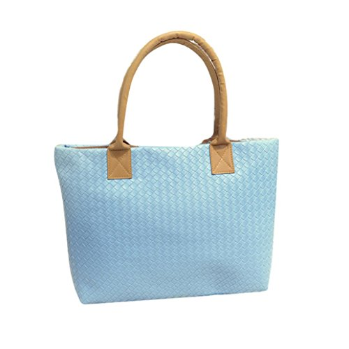 Transer  PU leather Handbags & Single Shoulder Bags Women Zipper Bag Girls Hand Bag, Damen Schultertasche mehrfarbig gold 43cm(L)*29(H)*9cm(W), rot (mehrfarbig) - ZLY60831792 blau