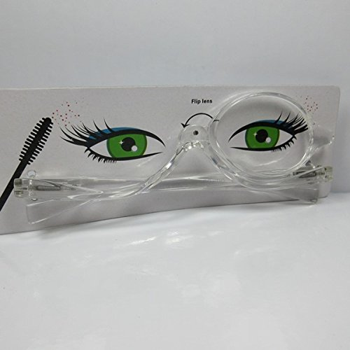 Schminkbrille Lesebrille Make Up-Brille + 2,5 transparent M5 Schminkhilfe