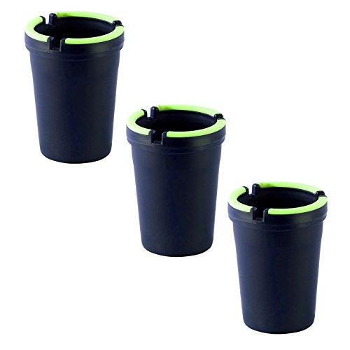 3x Glow in the Dark Zigarette ITC Aschenbecher-Ideal Zubehör für Biergarten, BBQ 's & Terrassen hilft beseitigen Geruch Cig-kit