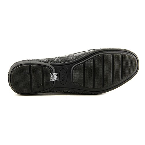Coach Odette Rund Synthetik Slipper Black-Smoke/Black