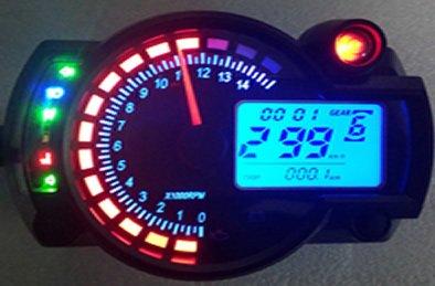 Goldenapplestore - Universal 299 km / h LCD digital Tachometer Geschwindigkeitsmesser Kilometerzähler Motorrad mph kmh 14000 rpm für Honda