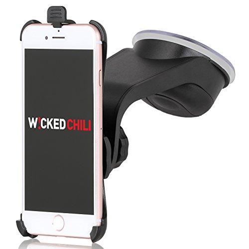 Wicked Chili Design KFZ Halterung für Apple iPhone 7 (4,7 Zoll) (passgenau, vibrationsfrei, Kugelgelenk, QuickFix, Made in Germany)