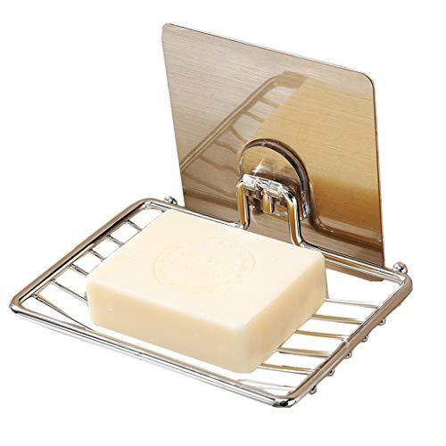 G'slife Vakuumsauger Seifenschale Halter Bar Seife Schwammhalter für Dusche Badezimmer Badewanne und Küchenspüle Rostfrei Edelstahl