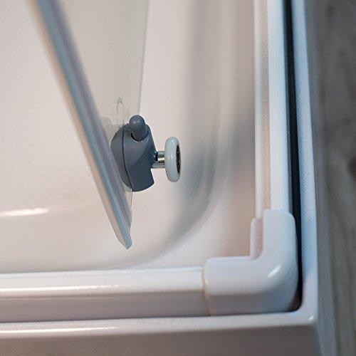 DUSAR Komplettdusche Fertigdusche Astoria 80 cm, 195 cm hoch Duschkabine Eckdusche Eckeinstieg mit vier Wänden rundum geschlossen komplett Dusche - 4
