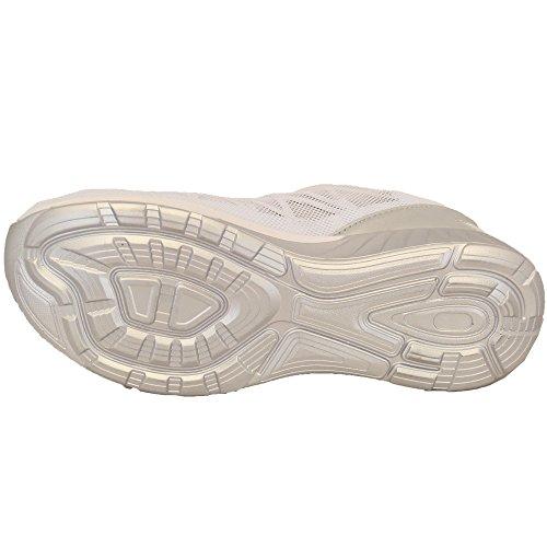 Scarpe Sportive Uomo Scarpe Da Corsa Con Lacci Palestra Jogging A Rete Décolleté Scarpe Sportive Belide Nuovo Bianco - LY331