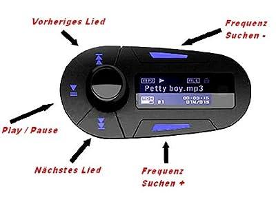 GiXa Technology FM Transmitter Car Audio Auto Audio Musik über TF Karte mit Adapter SDHC / SD Karte Card USB Stick geeignet für iPhone iPod MP3 MP4 Player CD DVD Spielkonsolen Walkman Auto Radio 12V - 24V Wireless / Funk Musik Übertragung auf Auto Radi