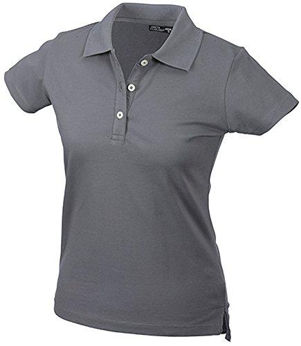 JAMES & NICHOLSON Kurzärmeliges Damen Poloshirt mit hohem Tragekomfort mid-grey