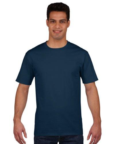 Gildan Premium T-Shirt für Männer (S) (Marineblau) S,Marineblau (Marineblau Frühjahr)