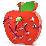 dmazing - Giocattolo in Legno per infilare Frutta, Ottimo Regalo per Bambini, Apple1