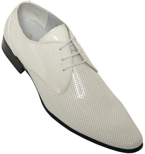 Voeut , Chaussures de ville à lacets pour homme Blanc - blanc
