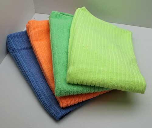 4x Mikrofasertuch 48x41 , Polyester,versch. Farben,Mikro Faser Putz Polier Tuch (LHS)