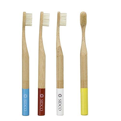 SIDCO Bambus Zahnbürste 4er Set