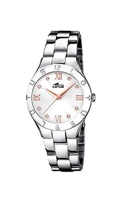 Lotus Watches Reloj Análogo clásico para Mujer de Cuarzo con Correa en Acero Inoxidable 15895/3