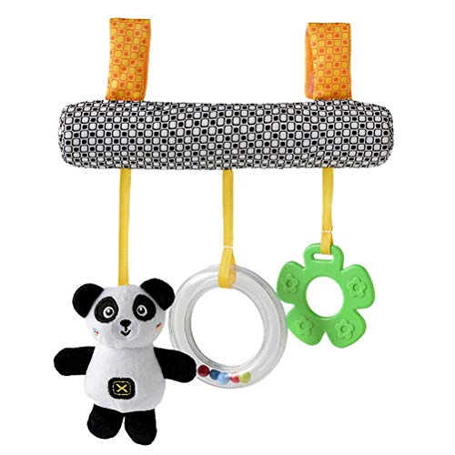 Koojawind Infant Baby Kids Cartoon Stroller and Bed Spiral Cart Seat Pram Hanging Toys- Pushchair Activity Hanging Toys Stroller Toy Car Seat Bed Hanging Toys with Ringing Bell