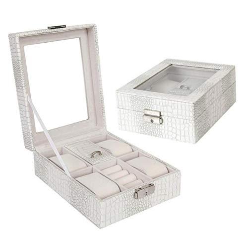 box mit Glas Schmucketui Halskette Box Container Boxes Schmucketui, Weiss ()