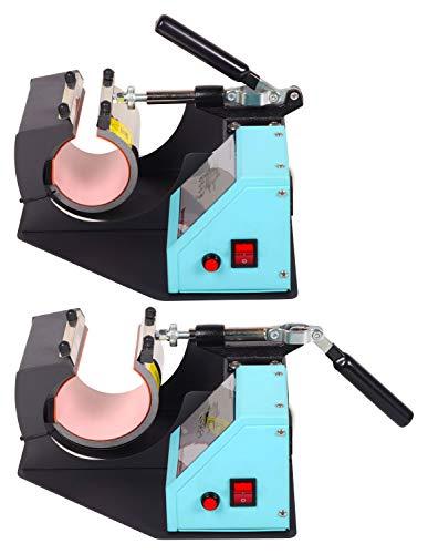 RICOO Transferpresse Sublimation Tassenpresse Krugpresse Krug Glas für zylindrische Tassen Ricoo M 505 Farbe:Türkisblau - 5