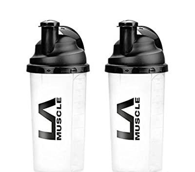 LA Muscle 700ml Shaker -Highest quality, Patented German-Made screw-top, Easy Mixing