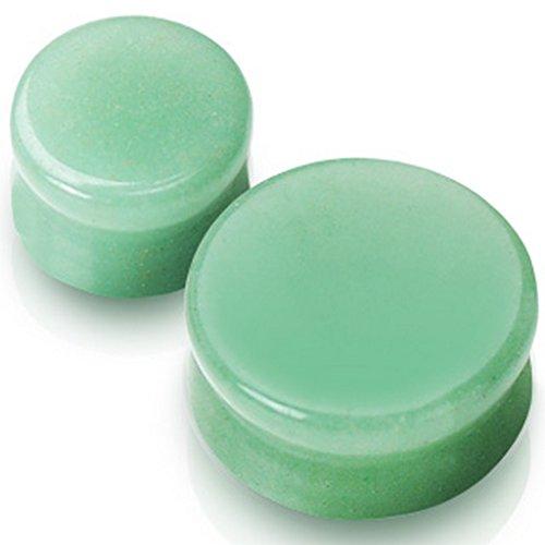 Piercing plug pierre semi precieuse jade Taille 16 mm