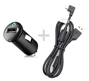 Original Sony Mobile Xperia Go KFZ Ladekabel AN400+EC600L PKW LKW Auto Ladegerät MicroUSB