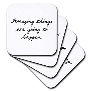 TORY Anne Kollektionen Quotes – Amazing Things Are Going To Happen. – Untersetzer, keramik, set-of-4-Ceramic