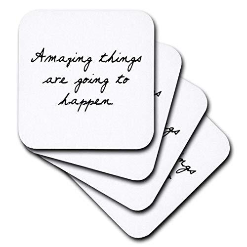 TORY Anne Kollektionen Quotes-Amazing Things Are Going To Happen.-Untersetzer, keramik, set-of-4-Ceramic