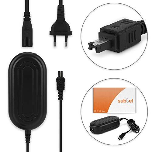subtel® Netzteil für JVC GC-PX100 -PX10 GY-HM100 GZ-MG330 -MG130 -MG575 -MG505 GZ-MS100 GZ-MC500 GZ-HD7 -HD300 -HD30 -HD3 GZ-HM200 GS-TD1, AP-V14 -V17 -V19 AP-V21 Ladekabel Ladegerät Netzadapter