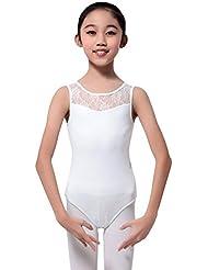 MORESAVE filles sans manches dentelle Ballet Dancewear justaucorps gymnastique en tête de Costumes