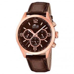 Reloj Lotus Caballero 18157/2 Cronógrafo piel marrón de Lotus