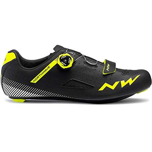 Northwave Core Plus Rennrad Fahrrad Schuhe schwarz/gelb 2019: Größe: 47
