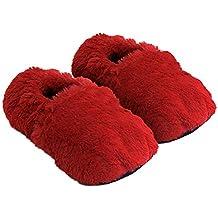 Zapatillas térmicas Pantuflas de Granos para el microondas y el Horno - Zapatillas para microondas Pantuflas