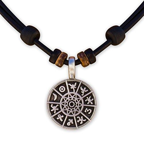 HANA LIMA ® Lederkette Surferkette Halskette Herrenkette Damenkette Metallanhänger