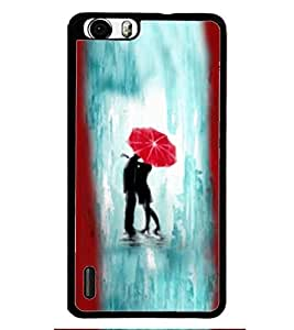 PRINTSWAG LOVE COUPLE Designer Back Cover Case for HUAWEI HONOR 6