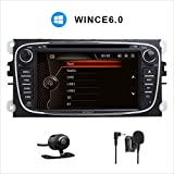 17,8 cm (7 Zoll) HD Digitaler kapazitiver Touchscreen Dual CANbus Auto Stereo DAB+ Radio RDS Bluetooth CD DVD Player GPS Bildschirm Mirroring für Ford Focus Mondeo Galaxy S-Max C-Max Kuga 3G SWC Subwoofer USB SD 1080P Kostenlose EU-Karte
