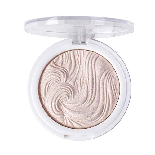 Cooljun 3D Baked Highlighter Powder Visage Base Illuminateur Maquillage,Shimmer Poudre Highlighter Palette Face Base Base Illuminator Maquillage bronzers Highlight Contour (C)
