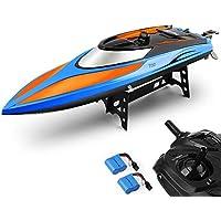 E T RC Boot Ferngesteuertes Boot 2,4GHz 20MPH High Speed Boot mit Kapsel Standard Funktion Fernbedienung Spielzeug für Kinder mit Extra Batterie
