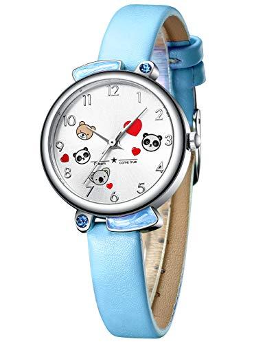 Kinder Uhren Mädchen Kinder Cartoon Wasserdicht Sport Armbanduhr Zeit Lehrer Niedlichen Stilvolle Blau Analog Quarz Uhren für Kinder Mädchen Jungen