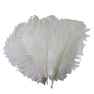 50 PCS 15-20cm Real Natural Home Decor Plume d'autruche Grande décoration de fiançailles Décorations de mariage Blanc